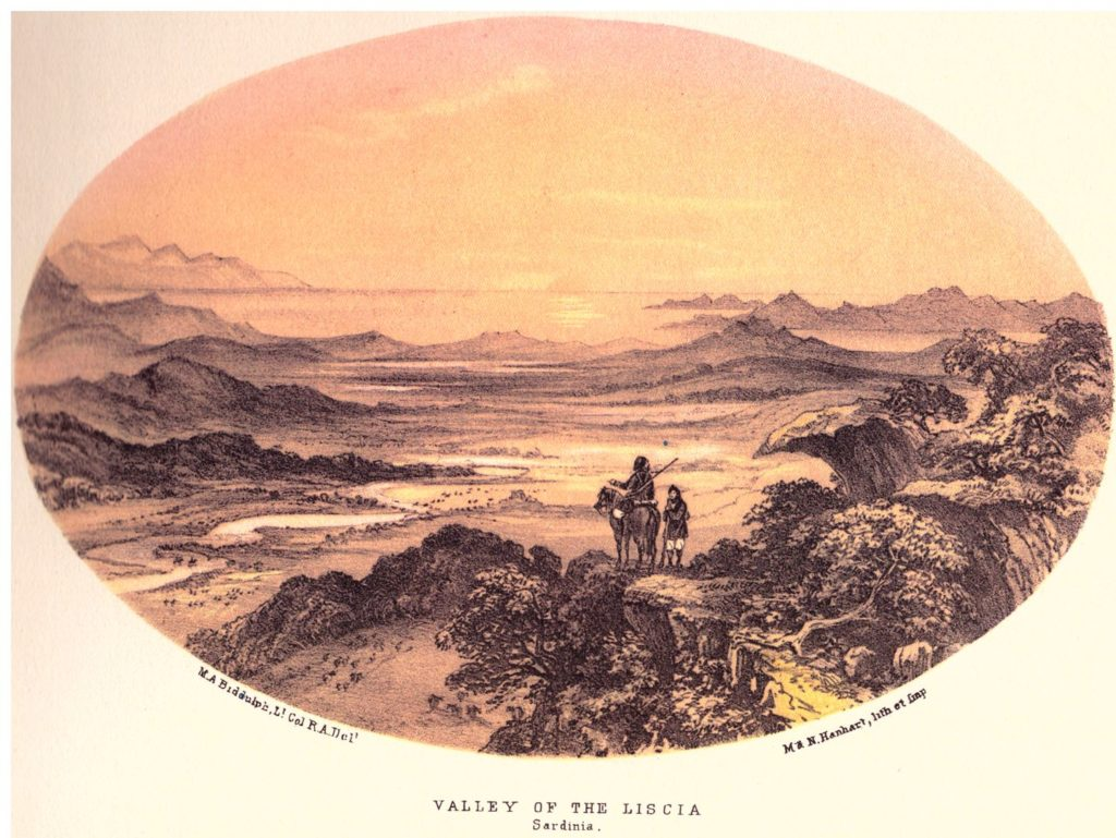 Valley and Lake of the Liscia, Gallura-Sardinia, 1858